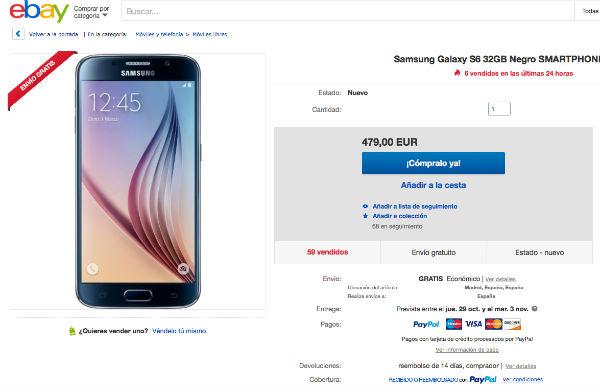 Samsung Galaxy S6 descuento