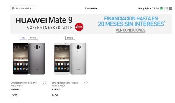 Huawei Mate nueve costo