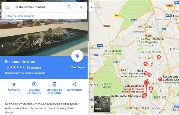 Restaurantes ©Google Maps