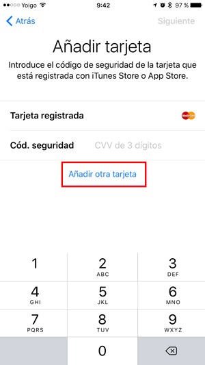 apple pay tarjeta registrada