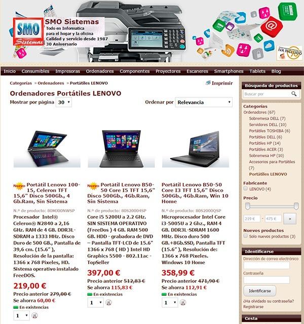 Tiendas De Ordenadores Online.Smo Sistemas Una Tienda De Informatica Con 30 Anos De