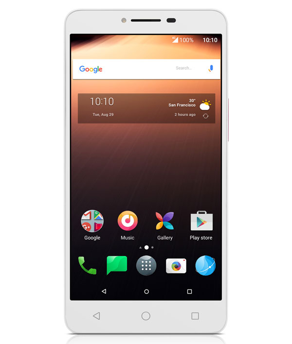 alcatel a3 xl blanco frontal