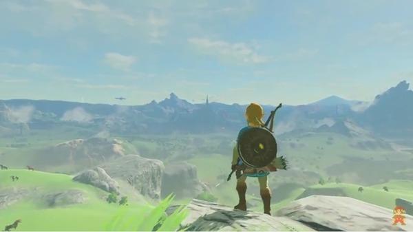 Link mirando al horizonte
