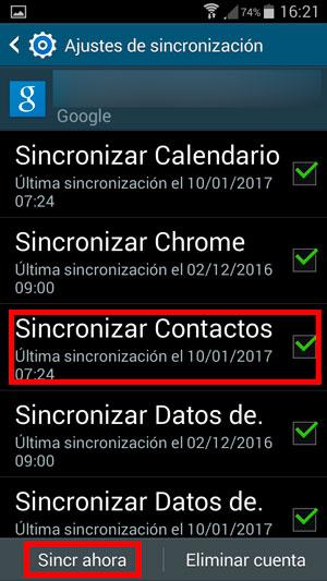como pasar contactos de android a iphone sincro