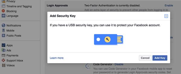 llave seguridad facebook