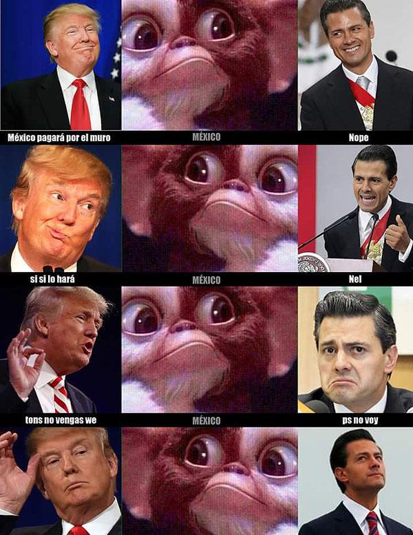Meme Trump y Peña muro