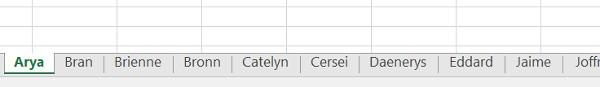 Ordenar pestañas Excel alfabeticamente