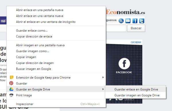 google drive extensión