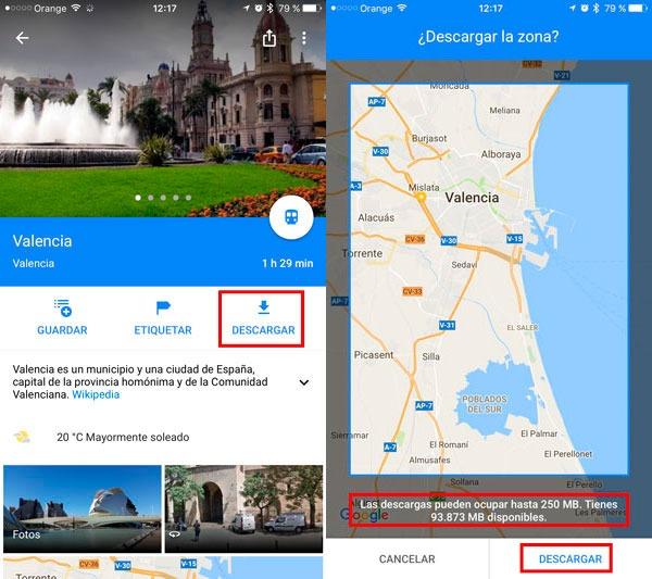 trucos google maps descargar