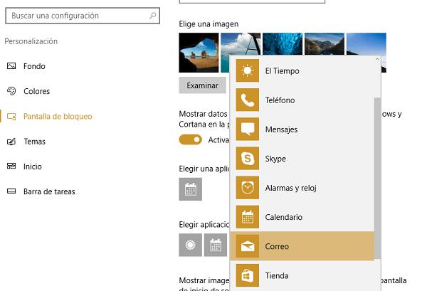 configuración iconos windows 10