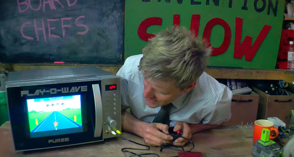 Convierten un microondas en una consola de videojuegos