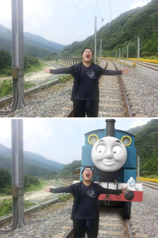 fotomontaje tren