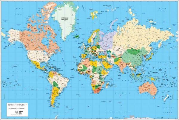 Mapamundi, 100 mapas del mundo(planeta) para imprimir y descargar gratis