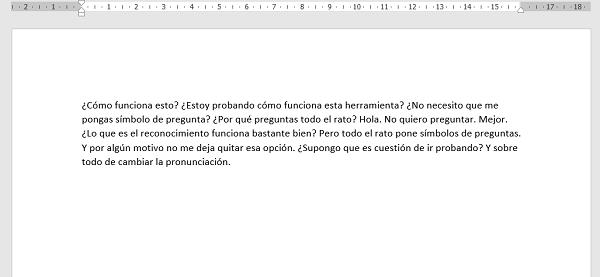 word dictate prueba