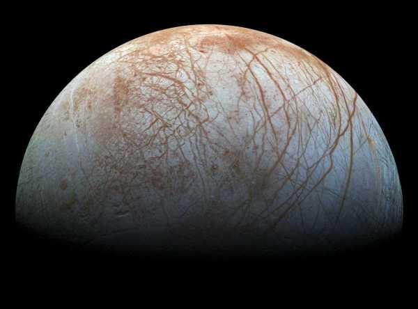 Hielo en Europa Jupiter 1998 NASA
