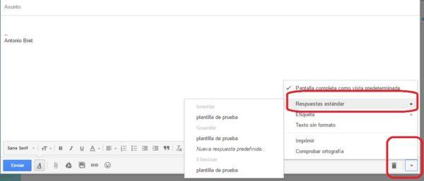 respuesta plantilla gmail