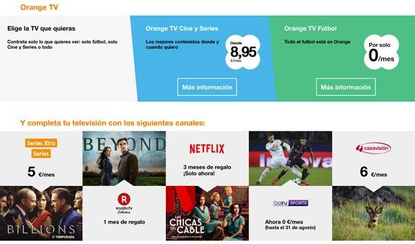tarifas fibra trescientos con Movistar, Vodafone y Orange one de love con una línea y tele