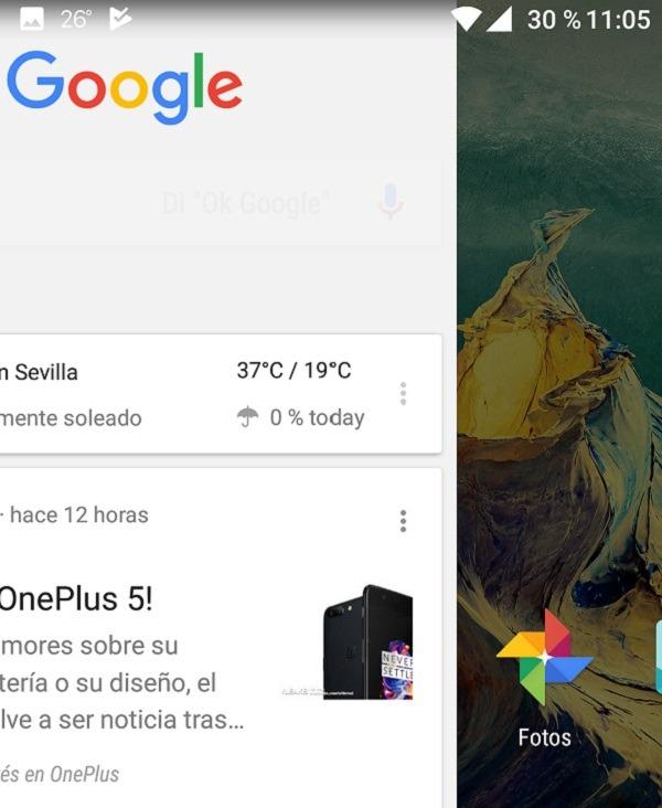 Desliza la pantalla a la derecha y accede a Google Now