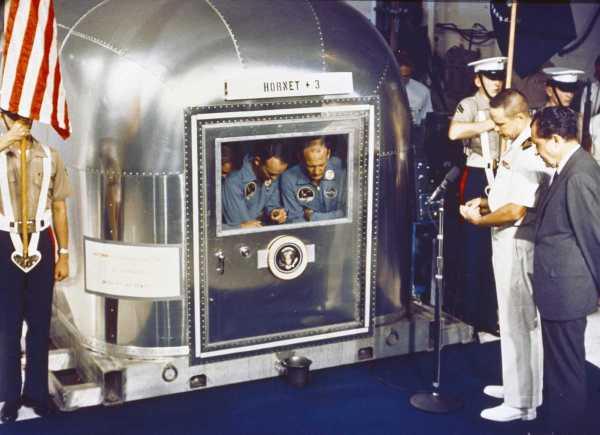 pilotos Apollo 11 cuarentena NASA Nixon