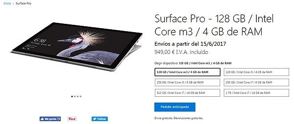 Microsoft Surface Pro y Surface Laptop, coste y data de salida en España