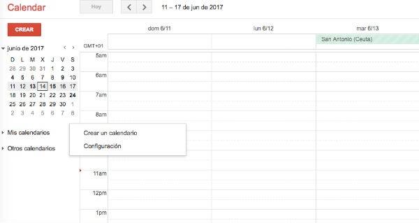 Google Calendar vacaciones