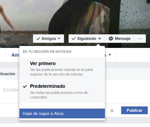 Trucos Facebook - Dejar de seguir
