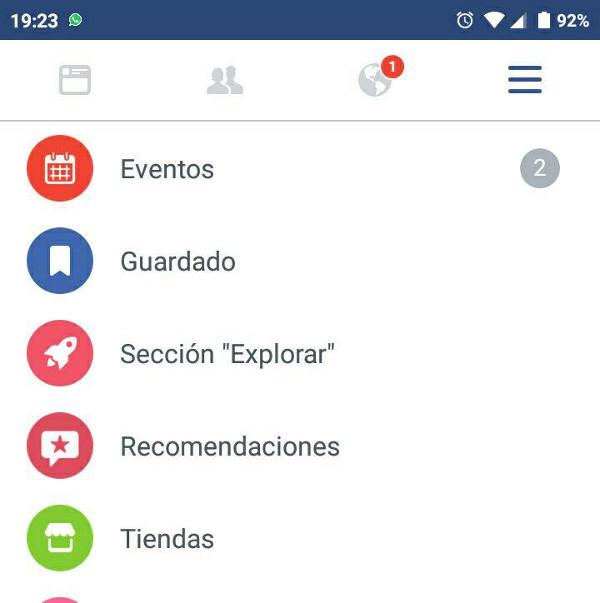 Trucos Facebook - Explorar noticias destacadas