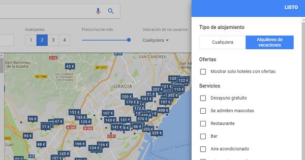 alquiler vacacional google