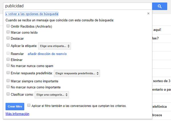 filtros gmail