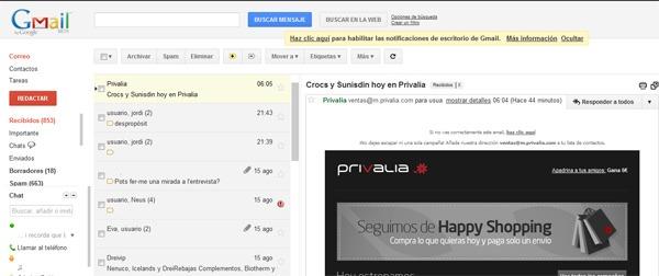 vista previa gmail
