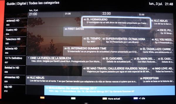 prueba Sony℗ A1 OLED sistema operativo play store epg tv