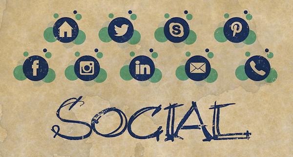 redes sociales iconos fotos