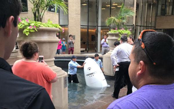 El robot de confianza suicida que se ahogó en una fuente