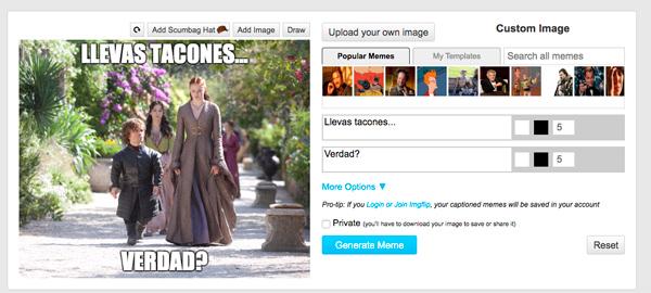 Sansa Tyrion meme Juego de Tronos
