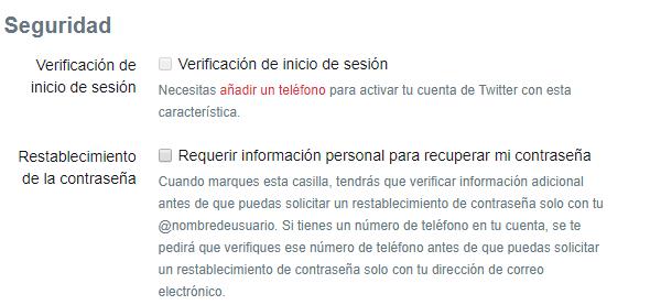 seguridad twitter