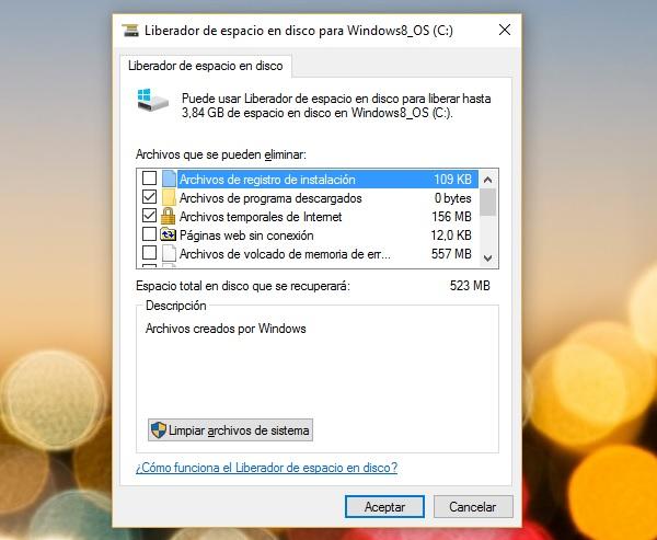 windows 10 liberador espacio