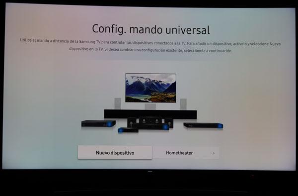 hemos demostrado Samsung QLED Q8C configuración mando