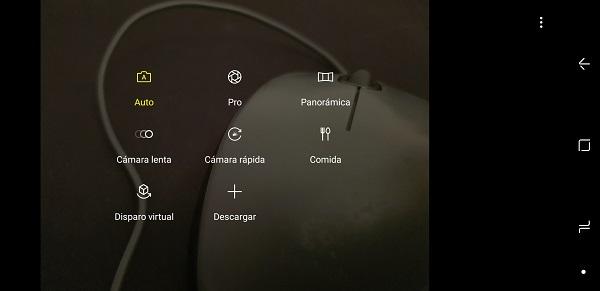 Modos de camara del Samsung Galaxy Note 8