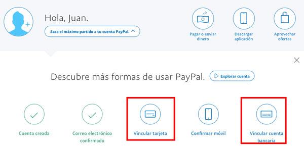 20 preguntas y contestación PayPal vincular cuenta o tarjeta