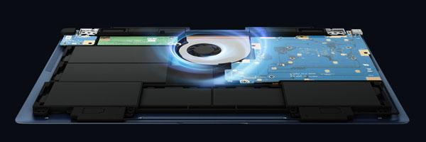 a fondo Asus ZenBook tres Deluxe interior