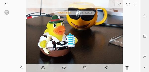 Primer plano en el Samsung Galaxy Note 8