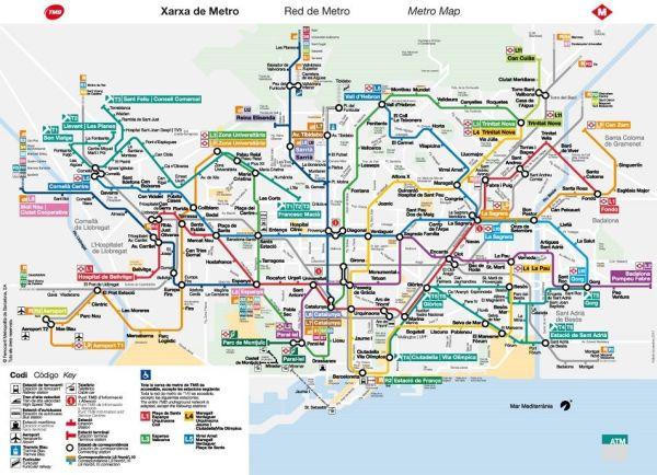 Metro de Barcelona, más de 100 imágenes del plano de metro, bus y cercanías