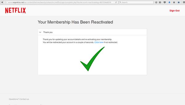 netflix datos phishing