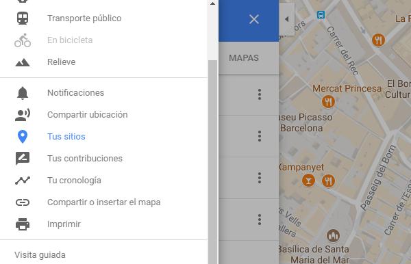 guardar google maps