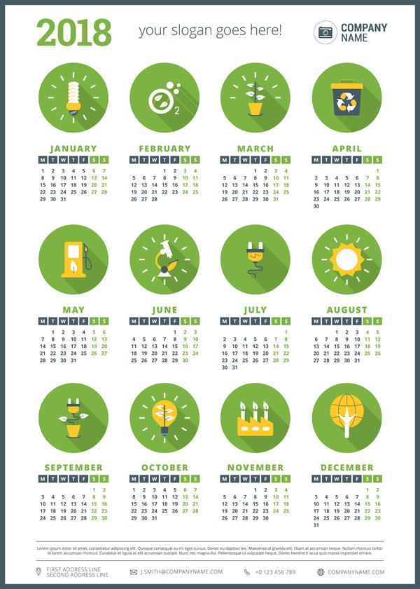 Calendario 2018 para empresas