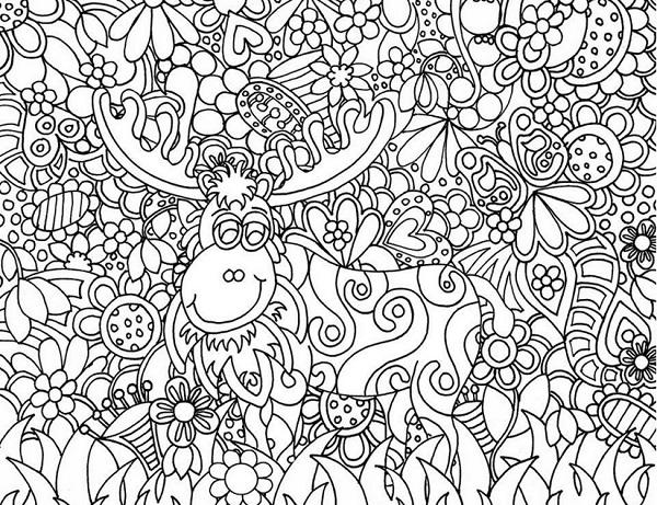Dibujos de Navidad para pintar para adultos