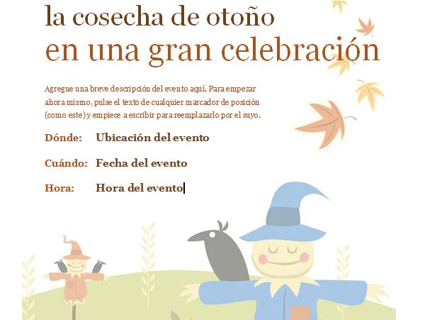 invitacion otoño