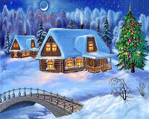 Fotos e imágenes de Navidad con paisajes