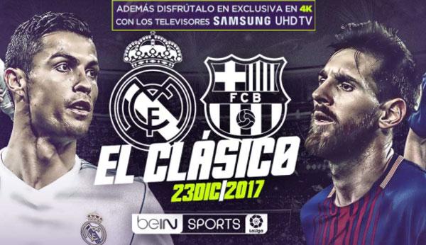 El Real Madrid-Barcelona se verá en 4K a través de Samsung℗ y BeIN Connect