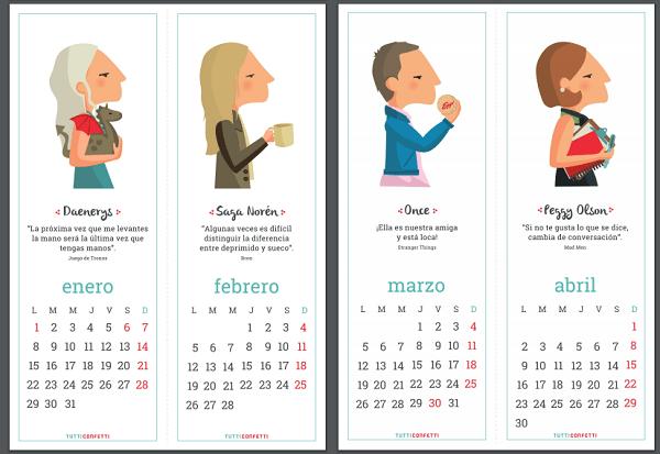 Un calendario muy especial para 2018: Mujeres fuera de Serie